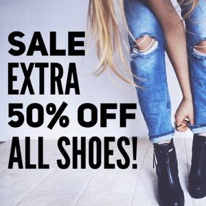 SALE EXTRA 50% OFF ALL SHOES